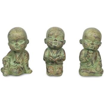 Wonen Beeldjes Signes Grimalt Kleine Boeddha Set 3 Eenheden Crudo