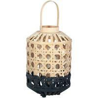 Wonen Tafellampen Signes Grimalt Kleine Natuurlijke Bamboe Lantaarn Negro