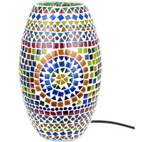 Wonen Tafellampen Signes Grimalt Mosaic Lamp Cylinder Multicolor