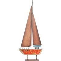 Wonen Beeldjes Signes Grimalt Zeilboot Van Gerecycled Hout Rojo