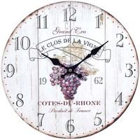 Wonen Klokken Signes Grimalt Wine Wall Clock Blanco