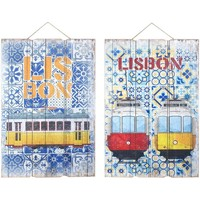 Wonen Schilderijen Signes Grimalt Muurornament Lissabon 2 Dif. Multicolor