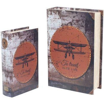 Wonen Trunks, opbergdozen Signes Grimalt 2U Retro Boekenboxen Voor Vliegtuigen Multicolor