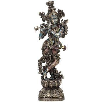 Wonen Beeldjes Signes Grimalt Krishna Het Spelen Van De Fluit Plateado