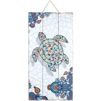Wonen Schilderijen Signes Grimalt Wandplaat Turtle Multicolor