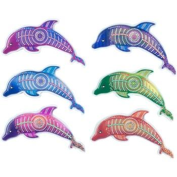 Wonen Beeldjes Signes Grimalt Magnetische Dolfijn Set 6U Multicolor
