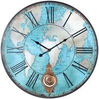 Wonen Klokken Signes Grimalt Wereld Wall Clock Azul