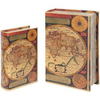 Wonen Trunks, opbergdozen Signes Grimalt Wereldboekenboxen Set 2U Multicolor