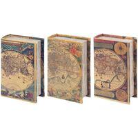 Wonen Trunks, opbergdozen Signes Grimalt Book 3 Dif Dozen. Wereld Multicolor