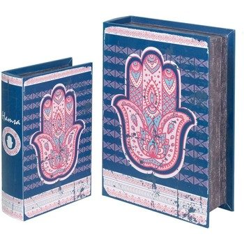Wonen Trunks, opbergdozen Signes Grimalt Fatima Handboekenboxen 2U Azul
