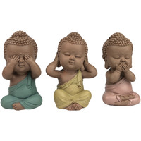 Wonen Beeldjes Signes Grimalt Linda Boeddha Set 3 Eenheden Multicolor