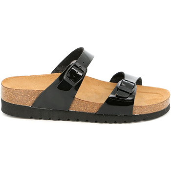 Schoenen Dames Leren slippers Grunland CB2433 Zwart