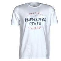 Textiel Heren T-shirts korte mouwen Lee SS POSTER TEE Wit