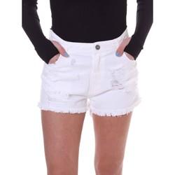 Textiel Dames Korte broeken / Bermuda's Fornarina BE172B92D877KM Wit