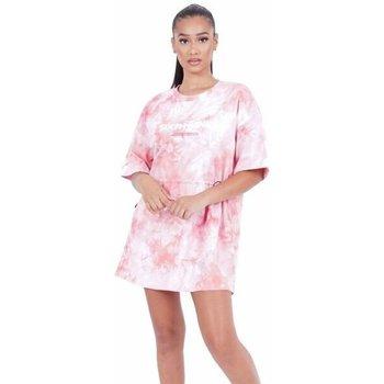 Textiel Dames Korte jurken Sixth June Robe femme  Tie and dye rose