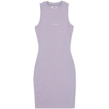 Textiel Dames Korte jurken Sixth June Robe femme  Rib Essential bleu lila