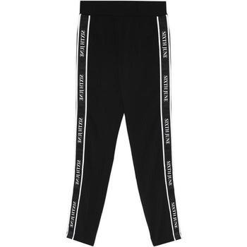 Textiel Dames Trainingsbroeken Sixth June Legging  bande imprimée noir/blanc