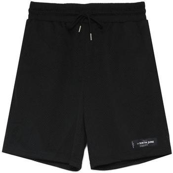 Textiel Heren Korte broeken / Bermuda's Sixth June Short  Mesh Logo noir