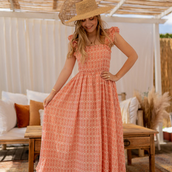 Textiel Dames Lange jurken Céleste AURORE Roze