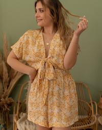 Textiel Dames Jumpsuites / Tuinbroeken Céleste AZALEE Geel / Wit