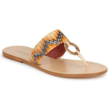 Schoenen Dames Slippers Missoni VM048 Orange