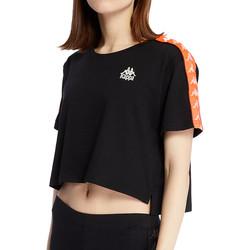 Textiel Dames T-shirts korte mouwen Kappa  Zwart