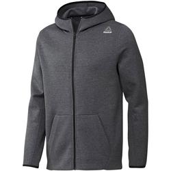 Textiel Heren Sweaters / Sweatshirts Reebok Sport Fitness Qc Dk Fz Hood Grijs