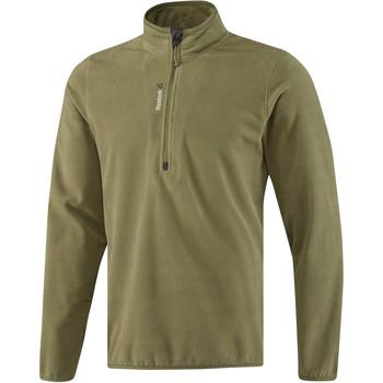 Textiel Heren Trainings jassen Reebok Sport Fitness Outdoor Fleece Quarter Zip Groen
