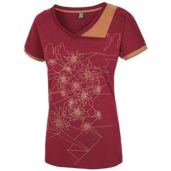 Textiel Dames T-shirts korte mouwen Salewa 251661651 Cerise