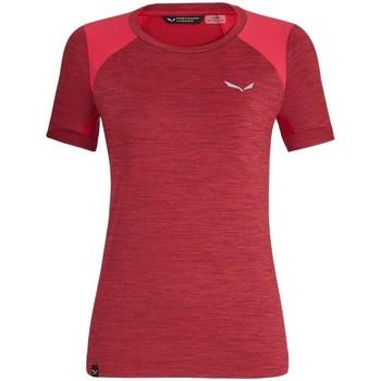 Textiel Dames T-shirts korte mouwen Salewa 271251830 Cerise