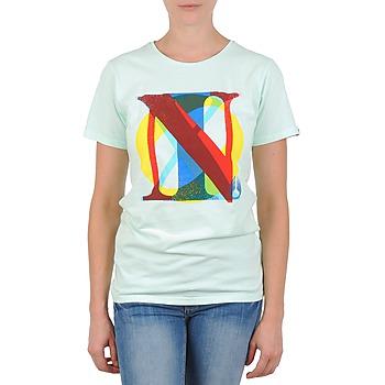 Textiel Dames T-shirts korte mouwen Nixon PACIFIC Groen