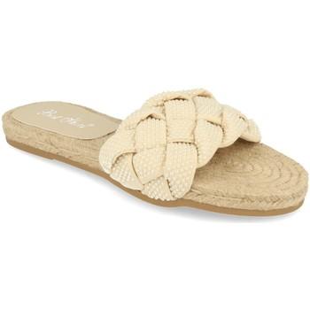 Schoenen Dames Leren slippers Milaya 2S31 Beige
