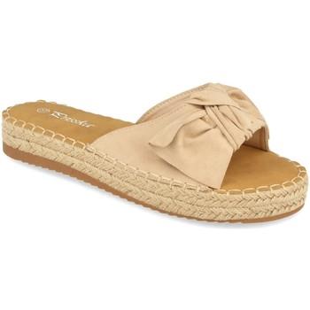 Schoenen Dames Leren slippers Prisska YJ8382 Beige