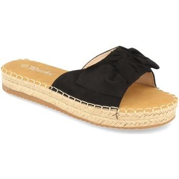Schoenen Dames Leren slippers Prisska YJ8382 Negro