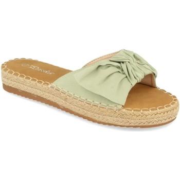 Schoenen Dames Leren slippers Prisska YJ8382 Verde