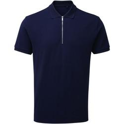 Textiel Heren Polo's korte mouwen Asquith & Fox AQ013 Marine