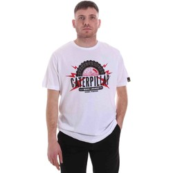 Textiel Heren T-shirts korte mouwen Caterpillar 35CC2510232 Wit