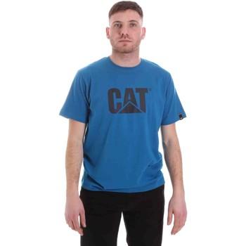 Textiel Heren T-shirts korte mouwen Caterpillar 35CC2510150 Blauw