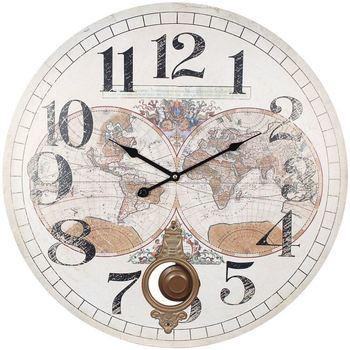Wonen Klokken Signes Grimalt 58 World Clock Blanco