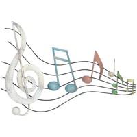 Wonen Schilderijen Signes Grimalt Muzieknoten Muur Ornament Multicolor