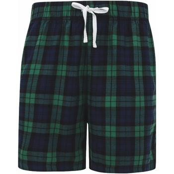 Textiel Heren Korte broeken / Bermuda's Skinni Fit SFM82 Navy/Groene controle