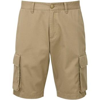 Textiel Heren Korte broeken / Bermuda's Asquith & Fox AQ054 Khaki