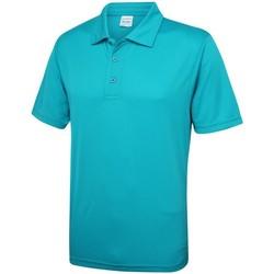 Textiel Heren Polo's korte mouwen Awdis JC040 Turkooisblauw