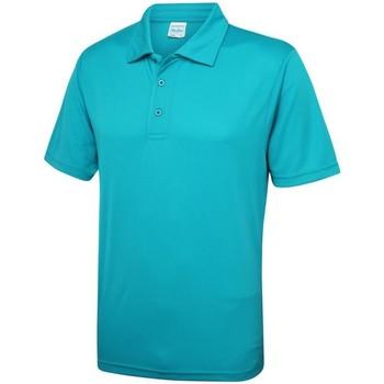 Textiel Heren Polo's korte mouwen Just Cool JC040 Turkooisblauw