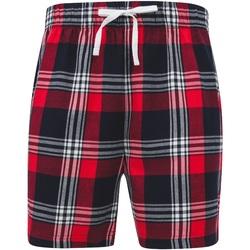 Textiel Heren Korte broeken / Bermuda's Skinni Fit SFM82 Rood/navy check