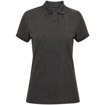 Textiel Dames Polo's korte mouwen Asquith & Fox AQ025 Houtskool