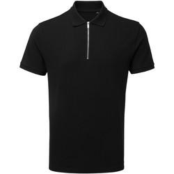Textiel Heren Polo's korte mouwen Asquith & Fox AQ013 Zwart