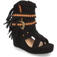 Schoenen Dames Enkellaarzen H&d YZ19-239 Negro