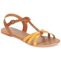 Schoenen Dames Sandalen / Open schoenen Betty London IXADOL Geel /  CAMEL
