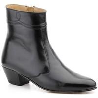 Schoenen Heren Laarzen Nikkoe Shoes For Men Botines de piel con tacon cubano by Nikkoe Noir